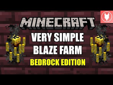Minecraft Bedrock - Very Simple Blaze Farm Tutorial  ( Xbox / MCPE / Windows 10 )