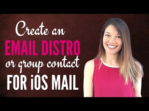 Create an Email Distro or Group Contact for iOS Mail