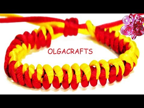DIY How to make knot snake bracelets with string RATTAIL CORD easy crafts macrame for men women
