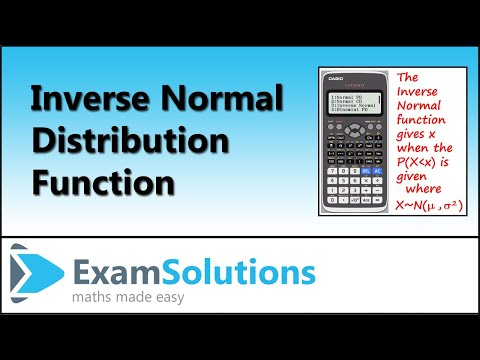 Normal Distribution - Finding observed values, quartiles, percentiles | ExamSolutions