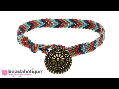 How to Make a Chevron Friendship Bracelet with a Button Clasp