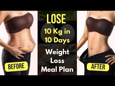 No Exercise ! How to Lose Weight Fast 10 Kg 10 days / Weight Loss Meal Plan