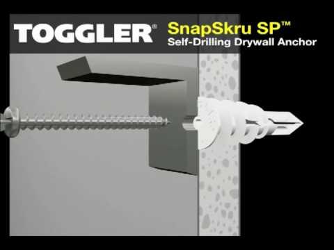 SnapSkru Self-Drilling Drywall Anchors