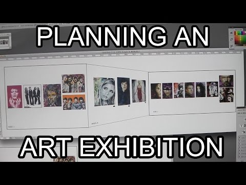 Planning an Art Exhibition - Artist VLOG