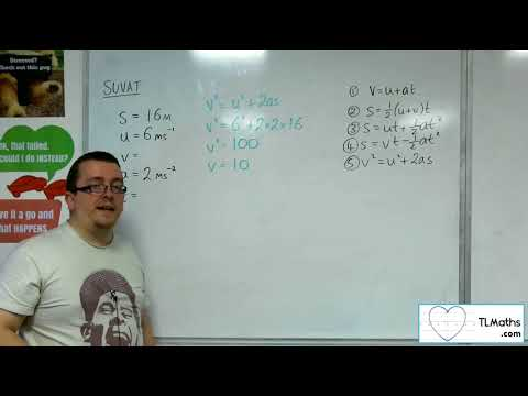 A-Level Maths 2017 Q3-02 [SUVAT: Using the Formulae Example 1]