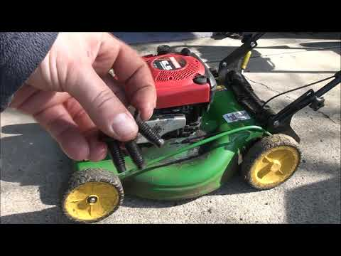 Briggs and Stratton LAWNMOWER Engine SWAP - Mounting Hole Cracked and Broken. Fixed! WELDED too!