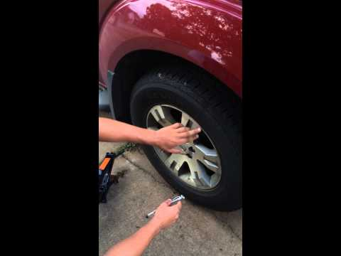 How to check your tire psi and change a flat tire
