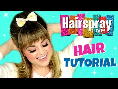 Hairspray LIVE! Ariana Grande Inspired Hair Tutorial  |  Faces by Cait B