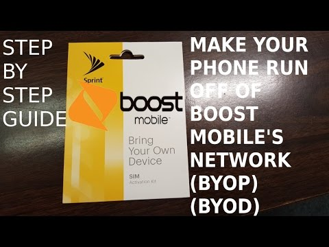 Bring Your Own Phone to Boost Mobile (BYOP) HD
