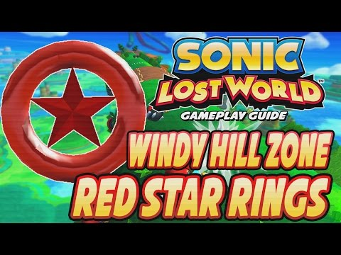 Sonic Lost World (Wii U) - Windy Hill Zone Red Ring Locations (Guide)