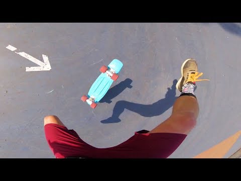 Trying actual Tricks on a Penny Board