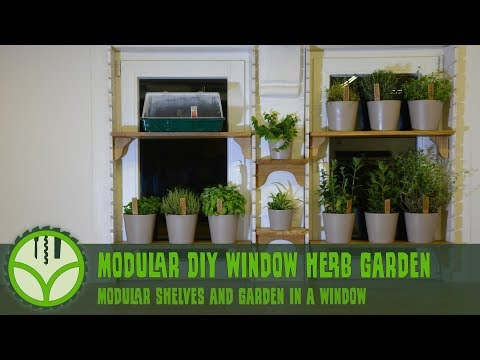 Modular DIY Window Herb Garden [Free plans]