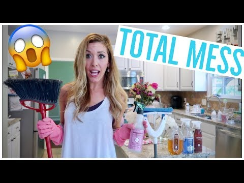 CLEAN WITH ME 2018! HUGE MESS 😱🏡 ENTIRE HOUSE | EXTREME CLEANING MOTIVATION | Brianna K