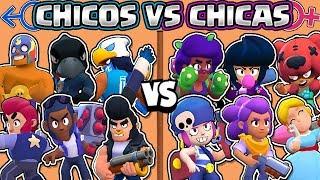 CHICOS VS CHICAS   CUAL ES MEJOR?   OLIMPIADAS de BRAWL STARS   Girls vs Boys
