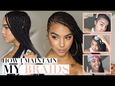 How I Maintain My BRAIDS! THE LAZY METHOD LOL