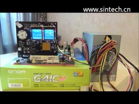 Sintech DDR2 DDR3 memory test card.wmv