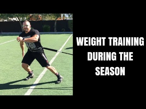 How to Weight Train Athletes During the Season