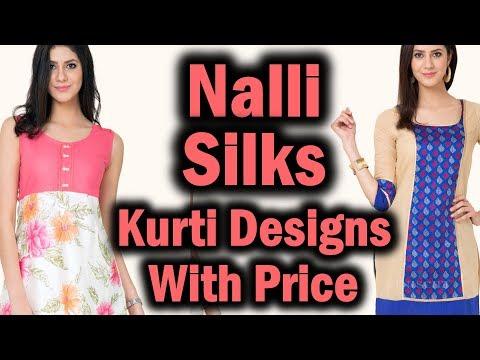 Nalli Silks Latest Kurti Designs with Price | Diwali Collections 2017