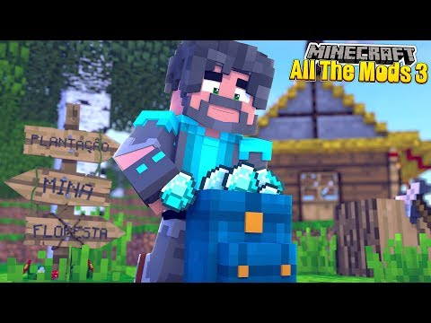 DIAMONDS + BACKPACKS!! | MINECRAFT ALL THE MODS 3 [#5]