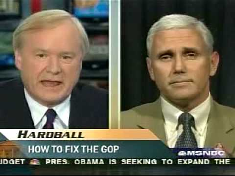 Chris Matthews, Mike Pence, Do You Believe In Evolution? [2/2]