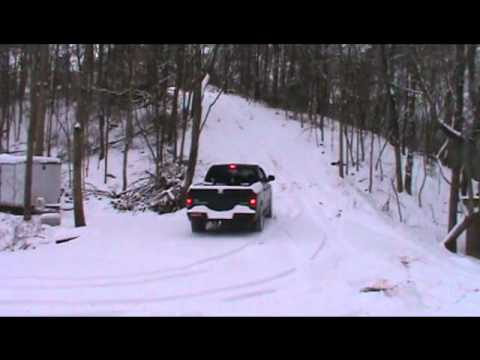Dodge 4x4 in the snow