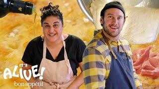Brad Makes Focaccia Bread with Samin Nosrat | It