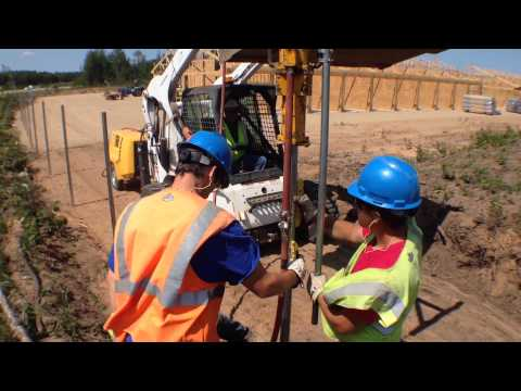 How we use a Rhino fence post driver on a chain link job