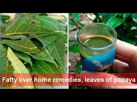 Fatty liver home remedies, leaves of papaya that do detoxification of liver very well