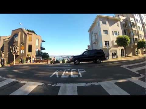 Driving Down Lombard Street - San Francisco - GoPro HD