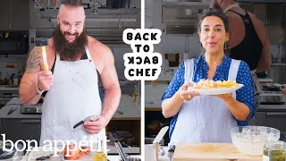 WWE Superstar Braun Strowman Tries to Keep Up with a Professional Chef | Back-to-Back Chef