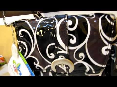 Kalencom Midi Coated Buckle Diaper Bag Surf Print Close Up