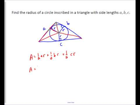 Finding the Radius of an Inscribed Circle in a Triangle