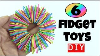 Download 6 EASY DIY FIDGET TOYS - HOW TO MAKE TOYS - PAPER CLIP, PIPE CLEANER, STRESS RELIEVER DIYS Video