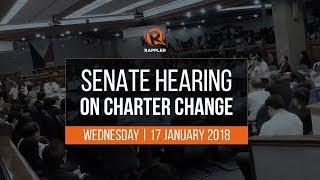 LIVE: Senate hearing on Charter Change, 17 January 2018