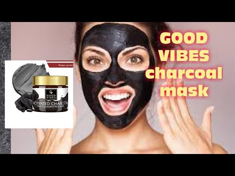 Good Vibes Charcoal Mask REVIEW in Hindi full demo