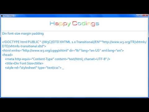 HTML | Div font size margin padding