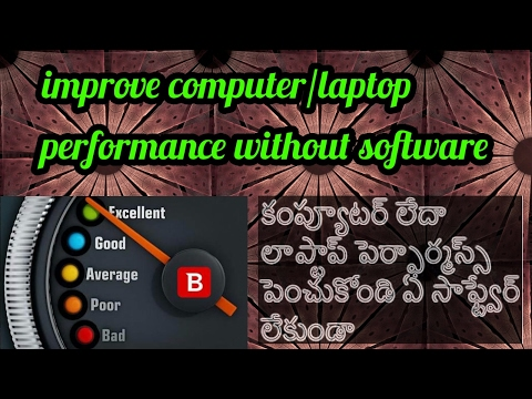 how to increase computer speed in telugu - speed up your computer telugu any windows xp,7,8,8.1,10