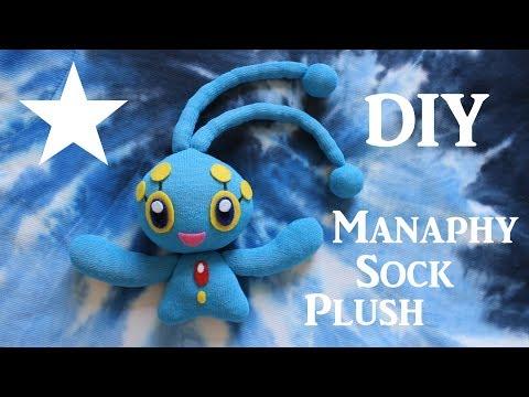 ❤ DIY Manaphy Sock Plush! How To Make A Cute Pokemon Plushie! ❤