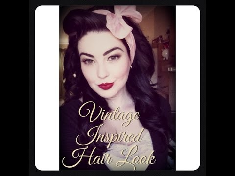 Vintage Inspired Hair Look