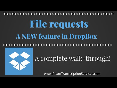 DropBox file request tutorial how-to walk through - step-by-step