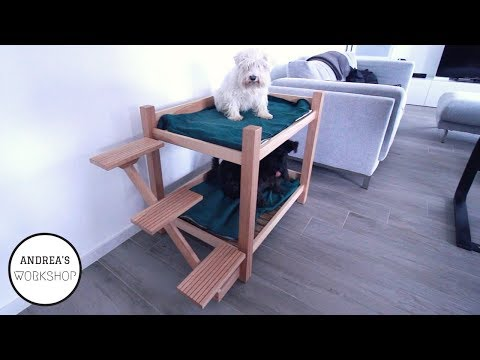 Dog Bunk Bed with Floating Stairs - DIY