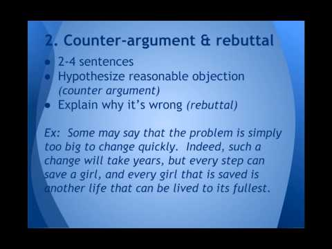 How to write a conclusion (persuasive essay)