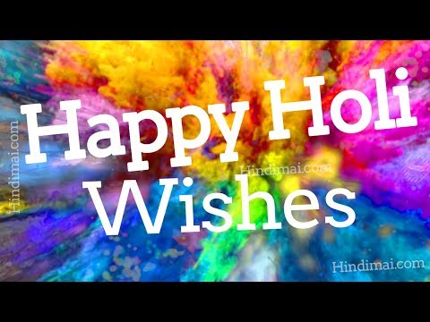 Happy Holi Video By HindiMai | Happy Holi Whatsapp Status Video | Happy holi wishes
