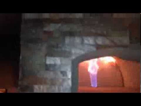 Drago P1 Burner in a Cortile Barile Oven by BrickWood Ovens