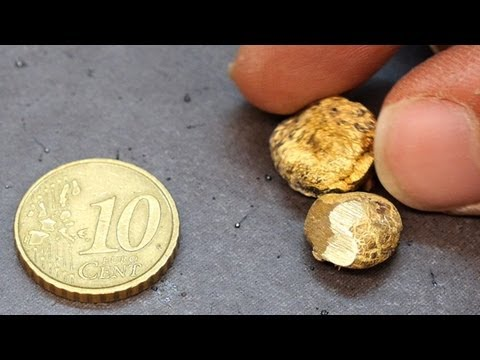 Melting a 10 cent euro coin.