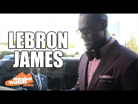 Flashback: Lebron Reacts to Getting Custom Sneakers from Mache