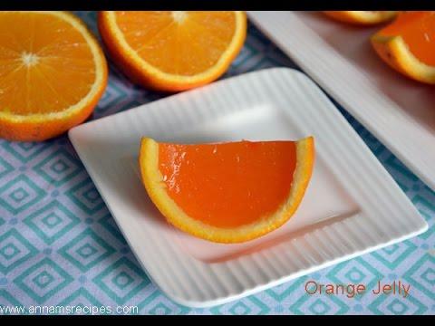 Easy way to make orange jelly - ஆரஞ்சு ஜெல்லி