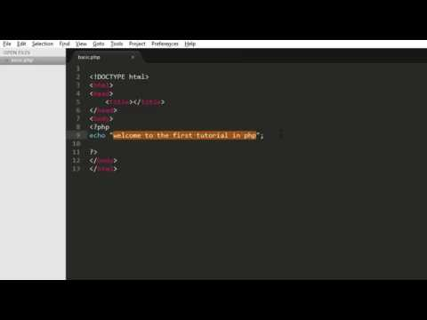 PHP Tutorial for Beginners Getting Started