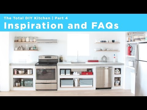 Inspiration and FAQs | Part 4 of the Total DIY Kitchen Series