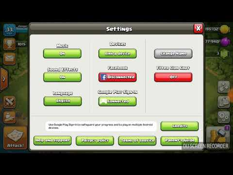 How to change your coc account -tamil